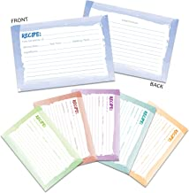 /Scharnierdeckel Rezept Karten/ /inkl /Lime Gr/ün /& Wei/ß Rezept Box//Rezept Organizer/ /mit gepr/ägt Rezept Schriftzug/ Buzz Splosh/