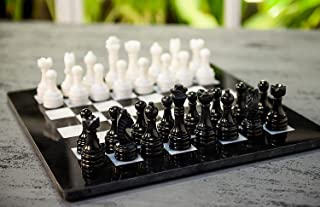 RADICALn 15 Inches Handmade Black and White Weighted Full Chess Game Set with Storage Box - Staunton and Ambassador Gift S...
