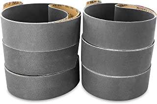 2 X 42 Inch Silicon Carbide Extra Fine Grit Sanding Belts 600, 800, 1000 Grits, 6 Pack Assortment
