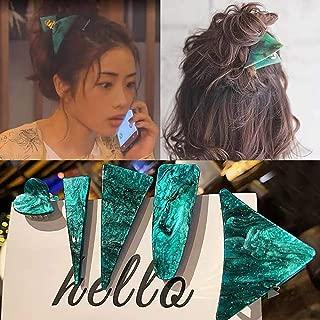 5 Pcs Geometric Hair Clips Acrylic Resin Hair Barrettes Large Triangle Hair Claw Duckbill Clips Hair Accessories for Women