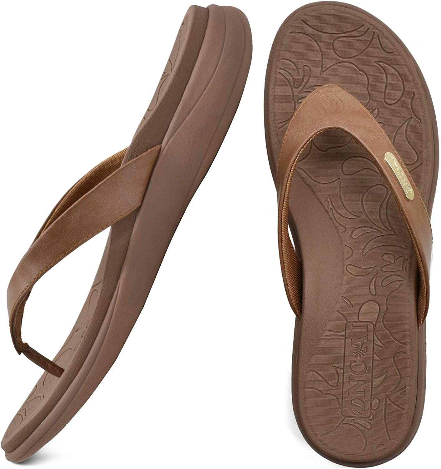 ONCAI Womens Outlet ☆ Free Shipping Fashion flip flops Sup comfort orthotic Louisville-Jefferson County Mall Ladies Arch