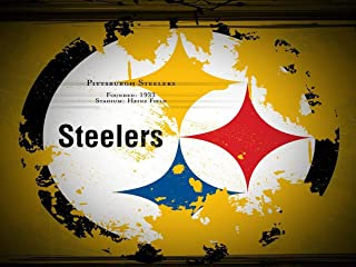 AZZYZ DIY 5D Diamond Painting Kits for Adults Steelers Full Drill Diamond Painting Crystal Diamond Arts Crafts for Home Wall Decor, Team Logo 12x16inch
