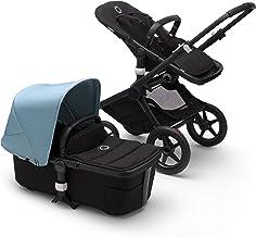 Bugaboo Fox 2 - Cochecito y silla 2 en 1 con un sistema robusto y ligero con suspensión avanzada para todo tipo de terrenos, hasta los 22 kg, con capota y base en azul vapor