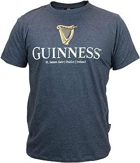 Guinness Navy Distressed Harp Logo Tee