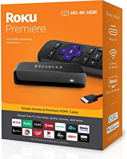 Roku Premiere HD and 4K UHD Streaming Media Player