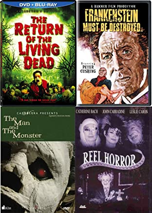 Community is terrorized Reel Horror 4 Movie Pack Return of the Living Dead + Frankenstein Monster