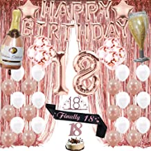 Rose Wine 18th Birthday Banner x2 Party Decoration Ladies Daughter ANY NAME