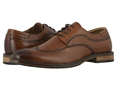 Stacy Adams Fletcher Wing Tip Oxford (Cognac) Men