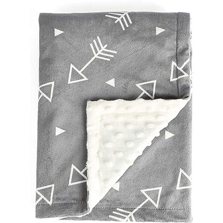 Patchwork Fuzzy Fleece Baby Blanket- Blue Gear Baby Blanket and Green Baby Blanket Chevron Baby Blanket Gray