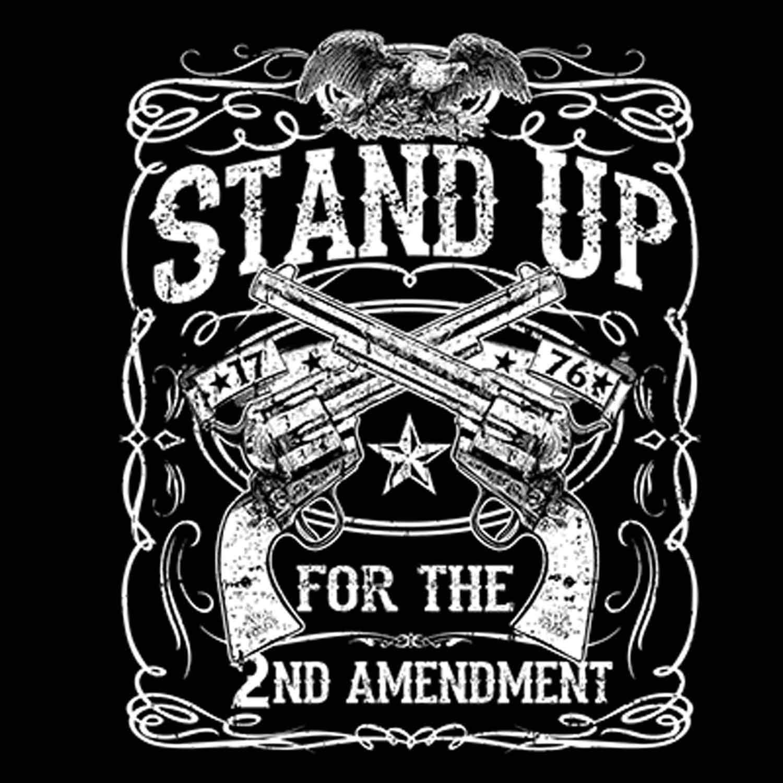 Stand Up Second Amendment Printed T-Shirt