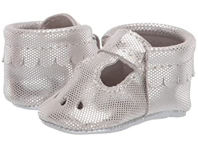 Freshly Picked Soft Sole Mary Jane (Infant/Toddler) (Silver Lining) Kids Shoes