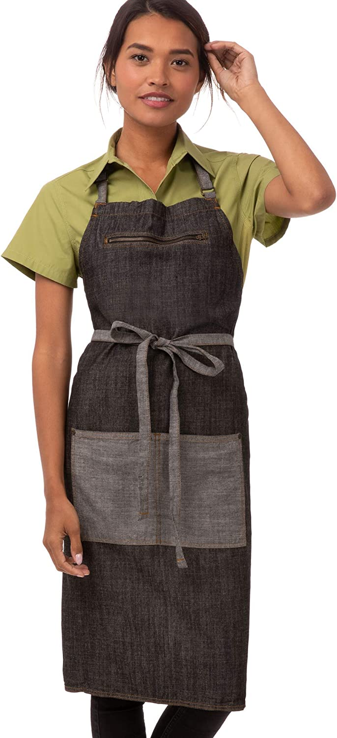 Chef Works Unisex Manhattan Bib Black Apron Super Al sold out. beauty product restock quality top Size One