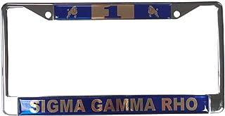 Desert Cactus Sigma Gamma Rho Line Number # Metal License Plate Frame for Front Back of Car (#1 License Plate Frame)