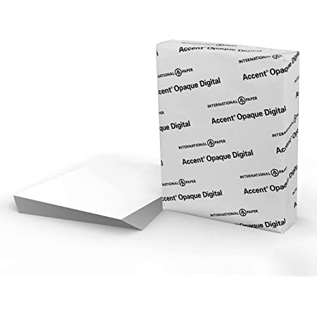 Accent Opaque White Cardstock Paper, 65lb Cover, 176 gsm, 8.5 x 11 card stock, 1 Ream / 250 Sheets, Medium Weight Cardstock with Super Smooth Finish, 121939R, White