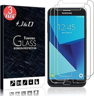 J&D Compatible for 3-Pack Galaxy J7 2017/Galaxy J7 V/Galaxy J7 Perx/Galaxy J7 Sky Pro Glass Screen Protector, [Tempered Glass] Glass Screen Protector for Samsung Galaxy J7 2017 Screen Protector