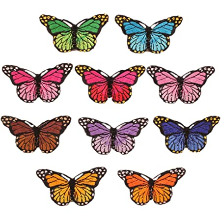 SUSSURRO 36pcs Papillon Patch Thermocollant Coudre Patch Applique Patchs de R/éparation pour DIY D/écor Crafts Jeans V/êtements Sac /à Dos /Écharpe