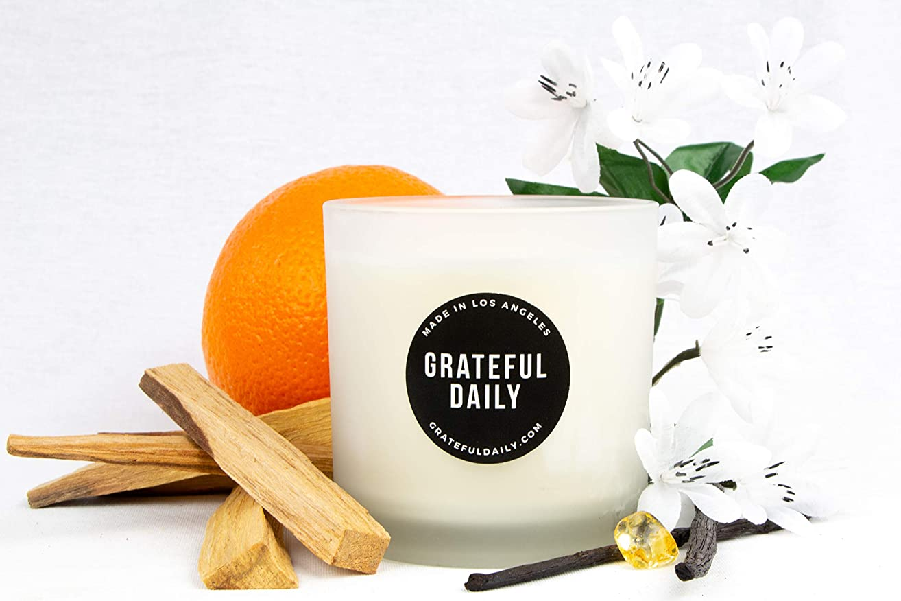 Sandalwood & Vanilla Soy Candle | Highly Scented & Long Lasting | Handmade in the USA | Clean and Slow Burning | 200 g