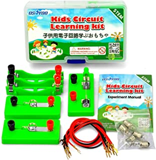 OSOYOO Electricity Science Experiment Kit for Kids   Parallel Series Circuit Building Learning Project   Energy Problem Solving Set for Students   Stimulate Early STEM Intelligence IQ for Girl Boy
