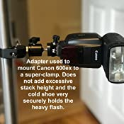 LED Lights 1//4-20 Monitors and Other Accessories Wimberley AP-7 Universal Cold Shoe Mount Adapter with Anti-Rotation for Flashes Made in USA