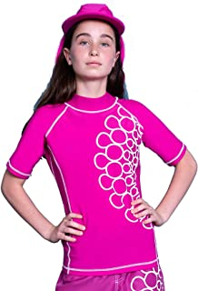 Expo 2020 Dubai Logo Girls Kids/Youth Rashguard - Short Sleeve