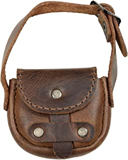 Hide & Drink, Leather Tiny Saddle Bag/Coin Pouch/Cash Holder/Organizer/USB/SD Cards/Ornaments/Accessories, Handmade Includes 101 Year Warranty :: Bourbon Brown