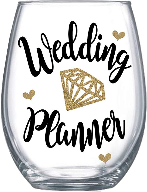 Wedding Planner Thank You Gifts From Bride Stemless Wine Glass For Her Cup Idea Large 0131