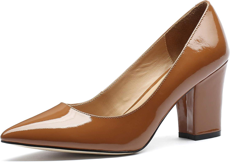 MANRINO Princess Medium Block Heel Patent Leather Handmade Luxury Dress Pump shoes Women Girls