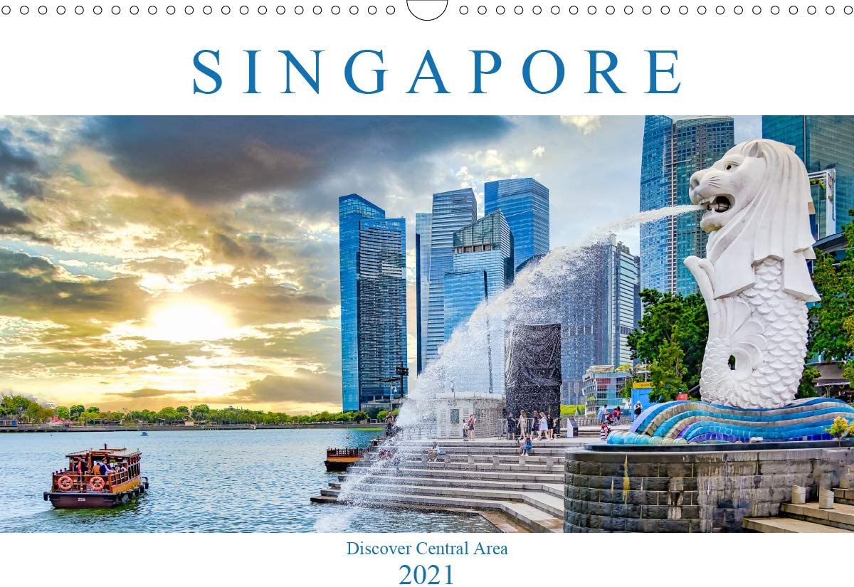Singapore - Discover Central Area Wall Calendar 2021 Lan A3 DIN New mail low-pricing order