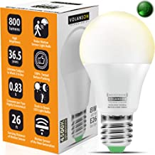 Motion Sensor Light Bulb Outdoor - Led Bulbs wiht Smart Highly Sensing Radar 360 Motion Activated Detector E26 Base Best f...