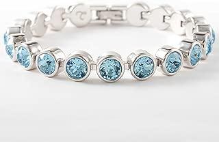 Touchstone Crystal by Swarovski Aquamarine Ice Bracelet