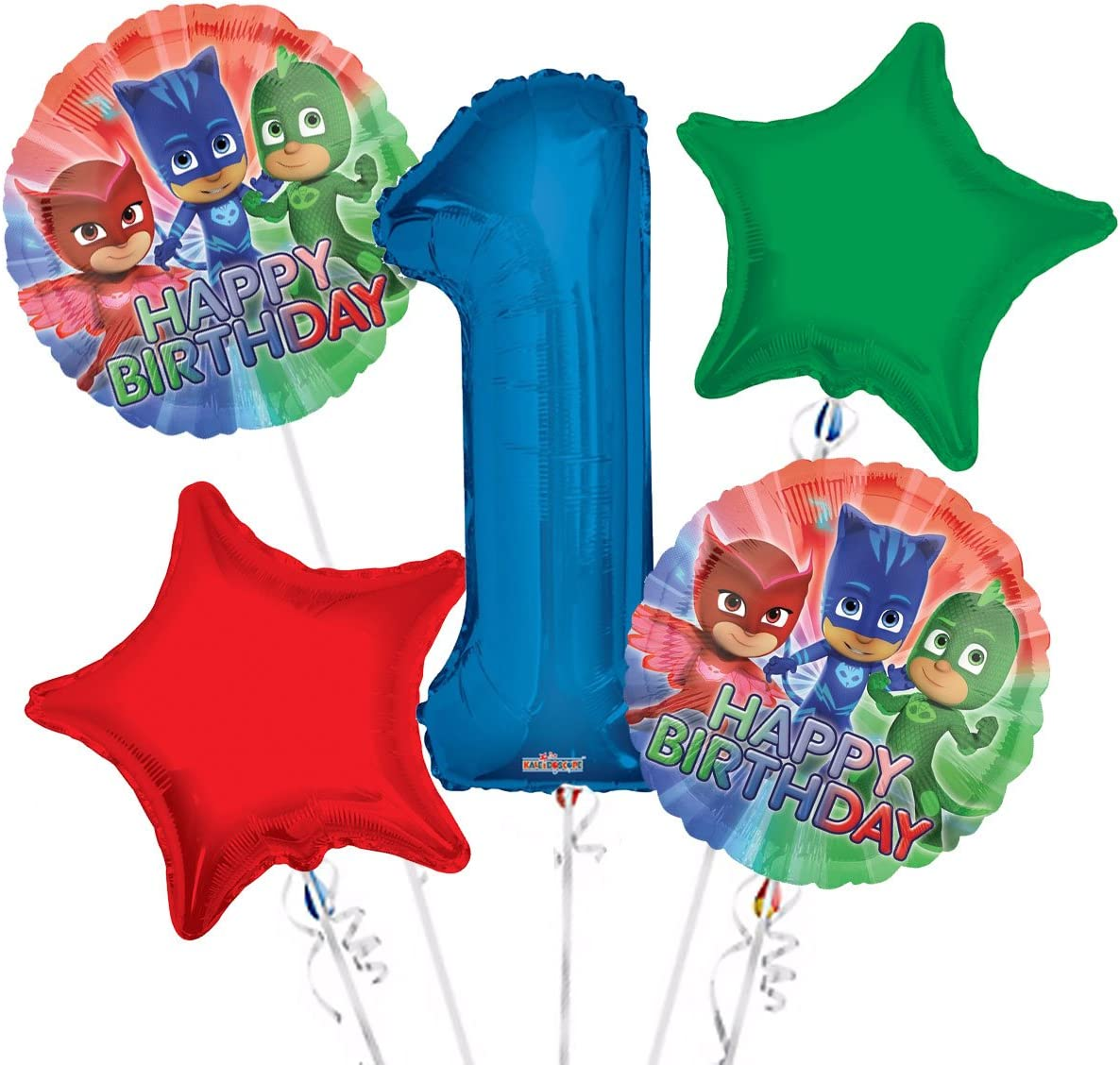 FIVE by Danilo PJ011 PJMasks birthday card for age 5