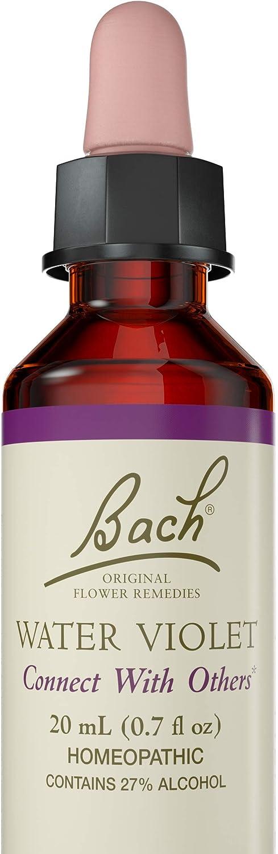 Bach Original Flower Remedy Dropper, 20 ml, Flower Essence Water Violet 0.7 Fl Oz Water Violet Flower Essence