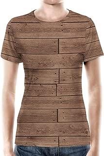 Rainbow Rules Reclaimed Floorboards Wood Pattern Women Cotton Blend T-Shirt
