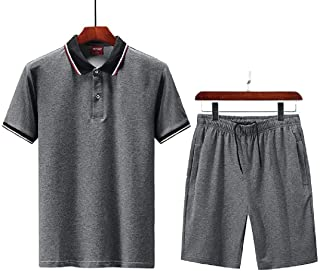 pipigo Mens Athletic Shirts /& Beach Shorts Short Sleeve 2 Pieces Suits Casual Lightweight Outfits