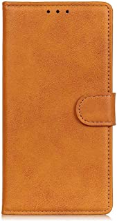 Flip Case for iPhone XS, brown PU Leather Wallet Cover (Compatible with iPhone XS)