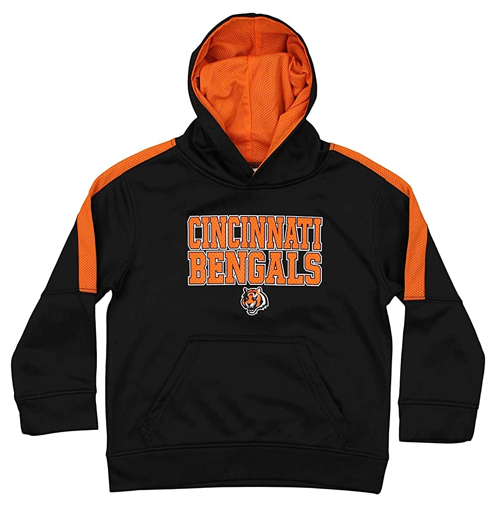 Outerstuff NFL Youth Boys (4-18) Performance Fleece Hoodie, Cincinnati Bengals Large (10-12)