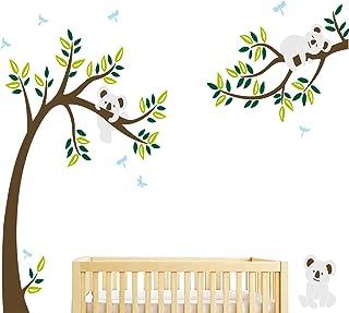 BDECOLL Stickers muraux,Arbre Mignonne Koalas Sticker mural pour bébé chambre décoration/autocollant bricolage pour les en...