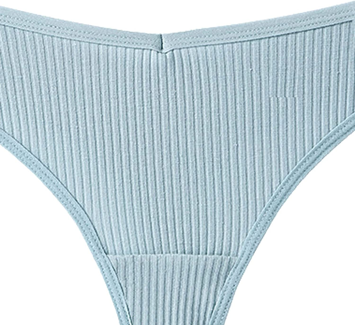 wodceeke Cotton Thongs for Women Pack, Women's Sexy V Waist Seamless Comfy Solid G-String Thong Underpants Panties Lingerie