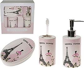Bosphorus Ceramic Bathroom Set, Multi-Colour, LY-J116, Set of 3