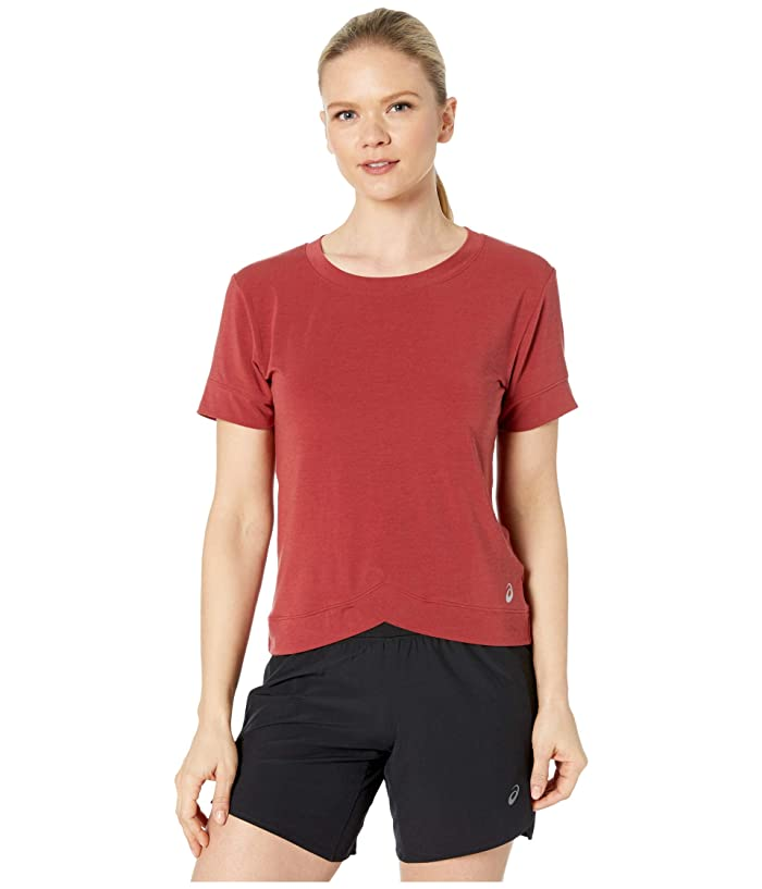 ASICS  Front Fold Tee (Beet Juice) Womens Clothing