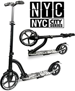 Crazy Skates Foldable Kick Scooters - City Series for Adults and Teens - Available in 3 Styles and Multiple Colors