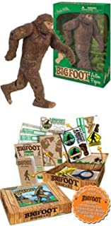 Archie McPhee Accoutrements Bigfoot Action Figure and Research Kit (Bundle of 2 Items)