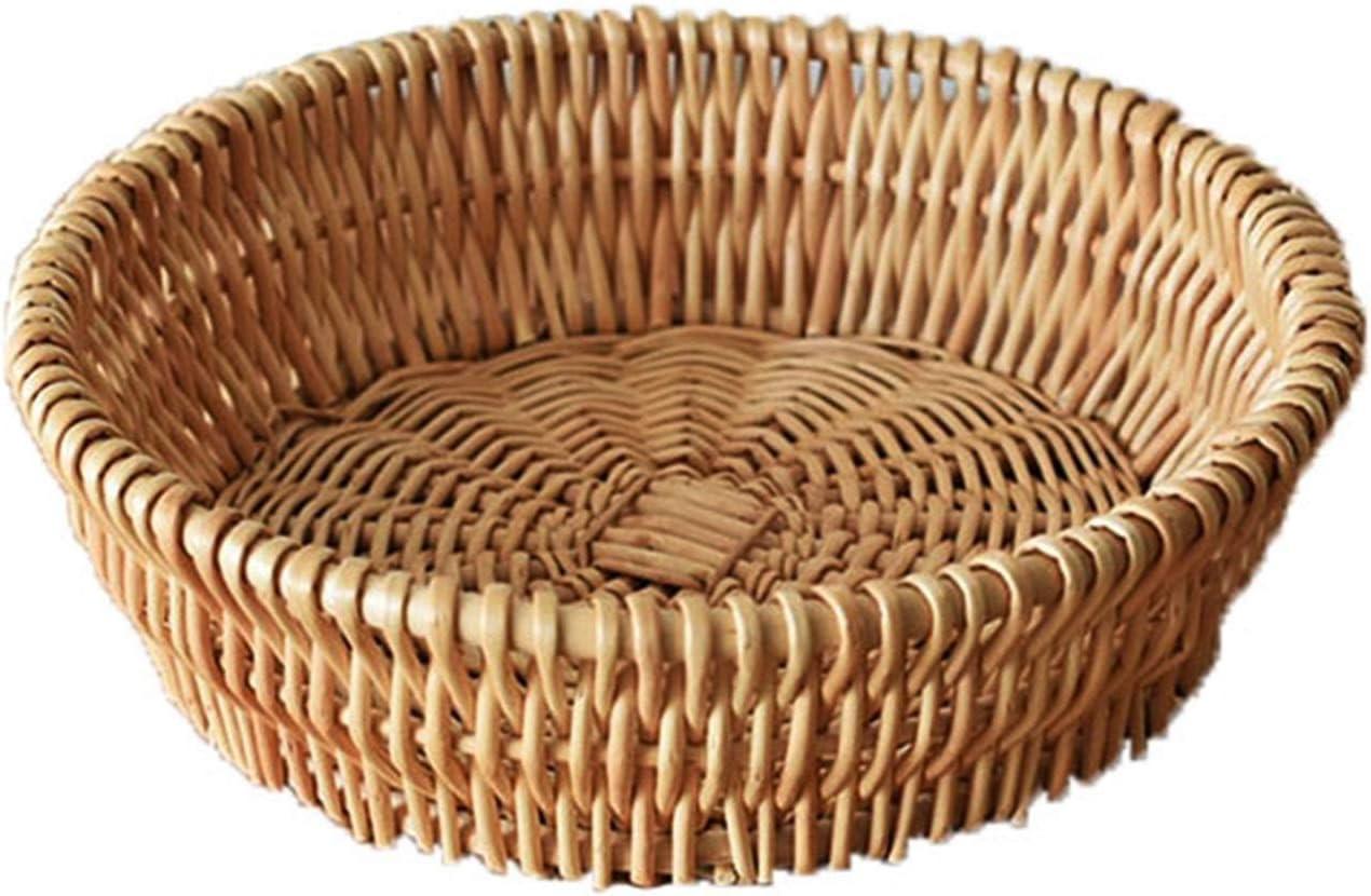 TPCYAN Wicker Baskets Vintage Natural 2021 model Bamboo Round mart Bread