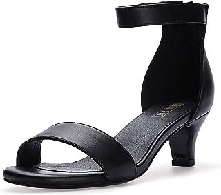 Women's IN2 Slim Fashion Stilettos Ankle Strap Open Toe Pump Heeled Sandals Kitten Heel Party Shoes with Zipper