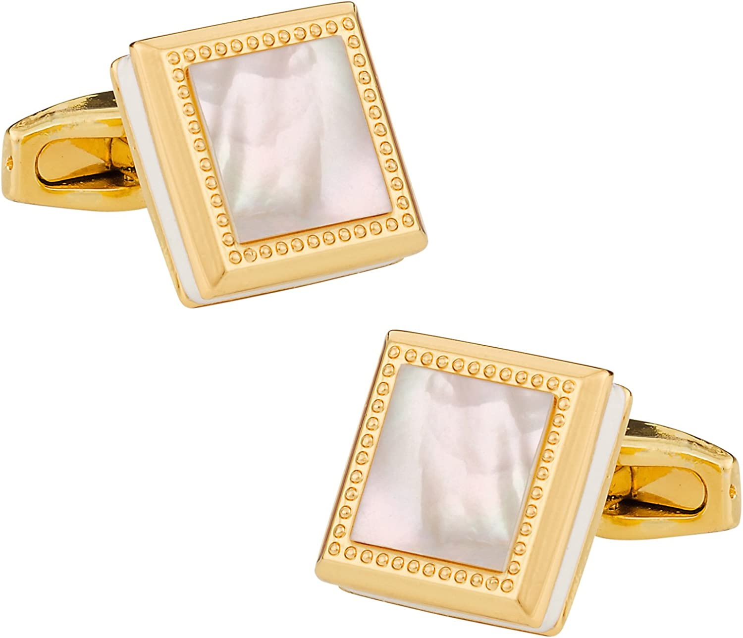 Cuff-Daddy Gold Mother of Pearl Square Cufflinks with Presentation Box