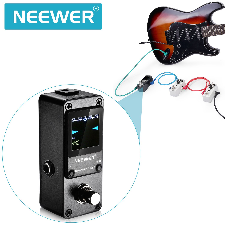 Neewer® Mini chromatischer Afinador Pedal Bypass auténtica, con ...