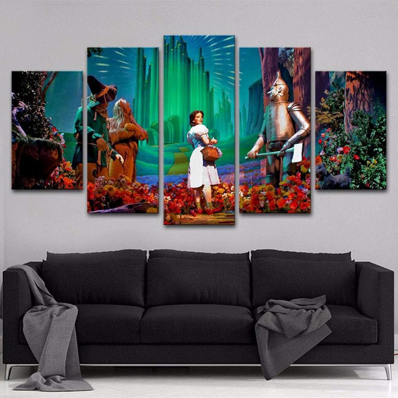 6. Wizard of Oz - 5 Panel Canvas Print Wall Art
