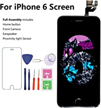 Screen Replacement for iPhone 6, Black 4.7 inch, MAFIX LCD Display Screen with Proximity Sensor, Earspeaker and Front Camera, with Repair Tool & Screen Protector