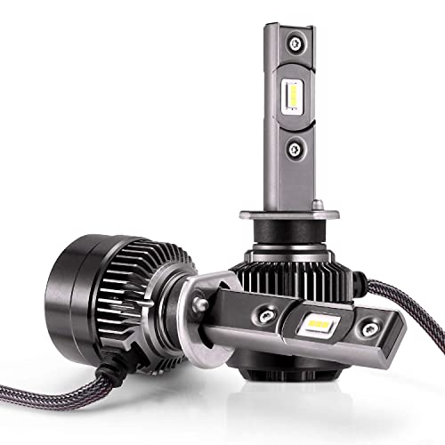 LED Bombillas para Coche Faros Delanteros - 1 par, AUTLEAD H1 Luces Altas/Bajas