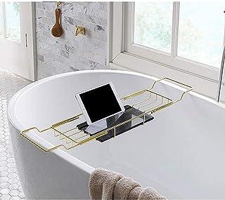 Łazienka marmurowa wanna stojaki antypoślizgowe stojaki do kąpieli z uchwytami do telefonów komórkowych Racks Rettoble (Go...